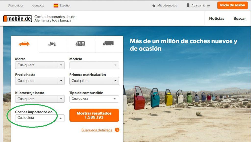 importar coche desde Alemania mobile de español 2